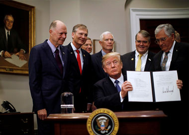 特朗普签署太空政策指令