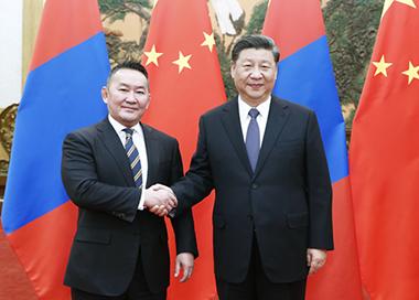 习近平同蒙古国总统会谈