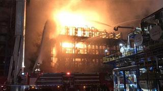 中石油大连分公司发生火灾