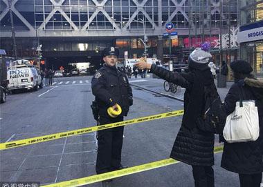 纽约时报广场附近车站爆炸 数人受伤