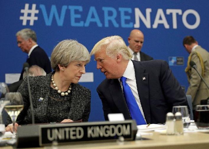 特朗普首次访英 难解两国分歧