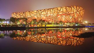 北京:鸟巢大型光影秀