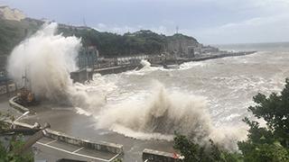 """台风""""黑格比""""登陆"""